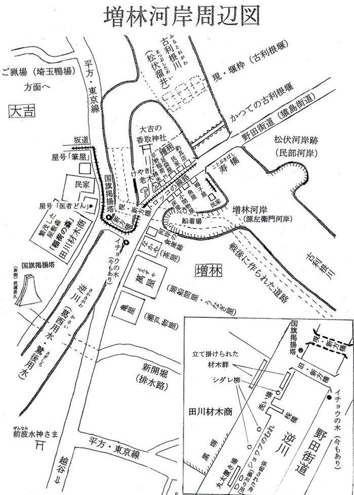 増林河岸周辺図