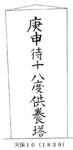 文字庚申塔