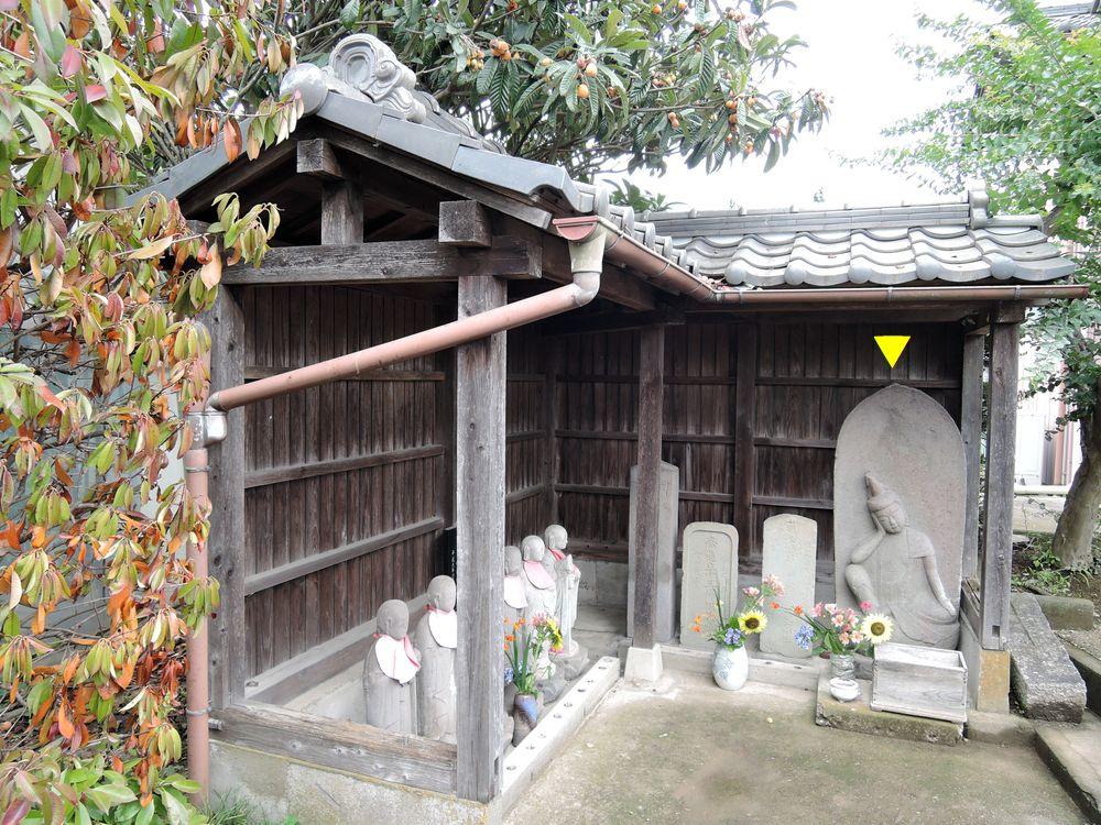 鞘堂の中の石仏|船渡上組集会所