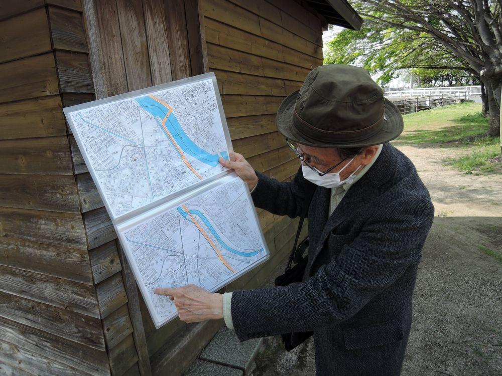 綾瀬川の地図
