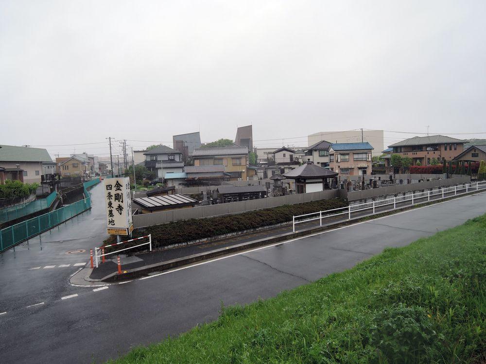 中川土手道からの景色