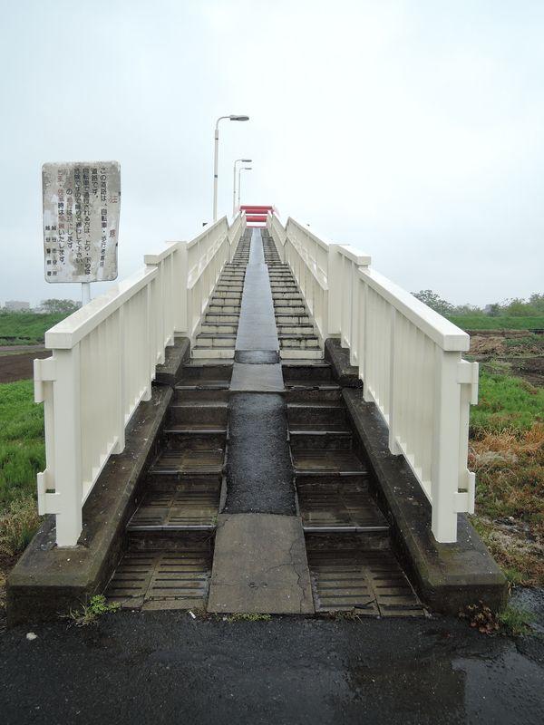 新中川水管橋|越谷側
