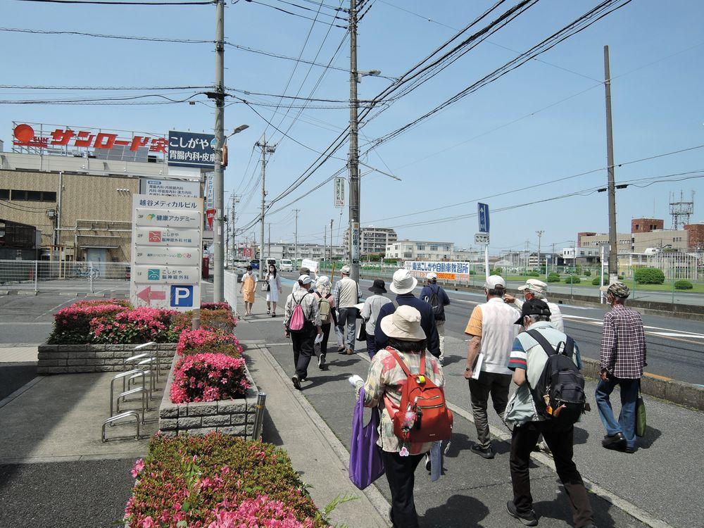 旧日光街道 東武こしがや自動車教習所付近