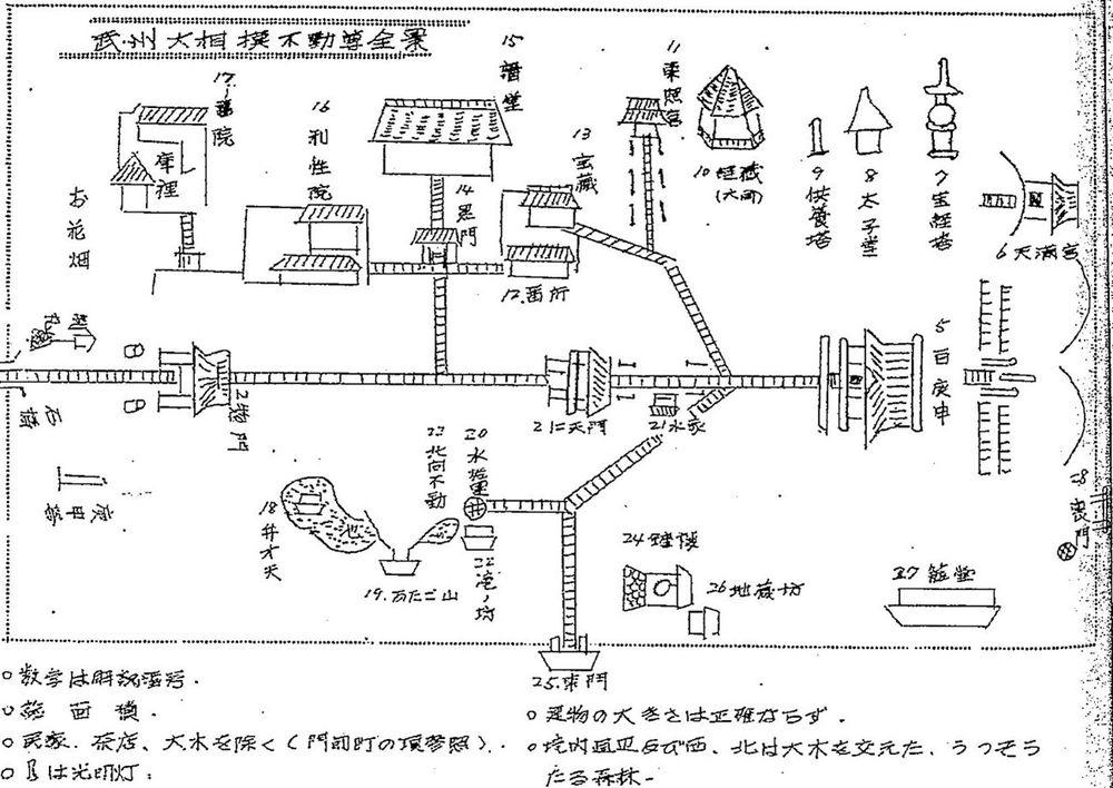 図|大聖寺の明治の焼失以前の境内の様子