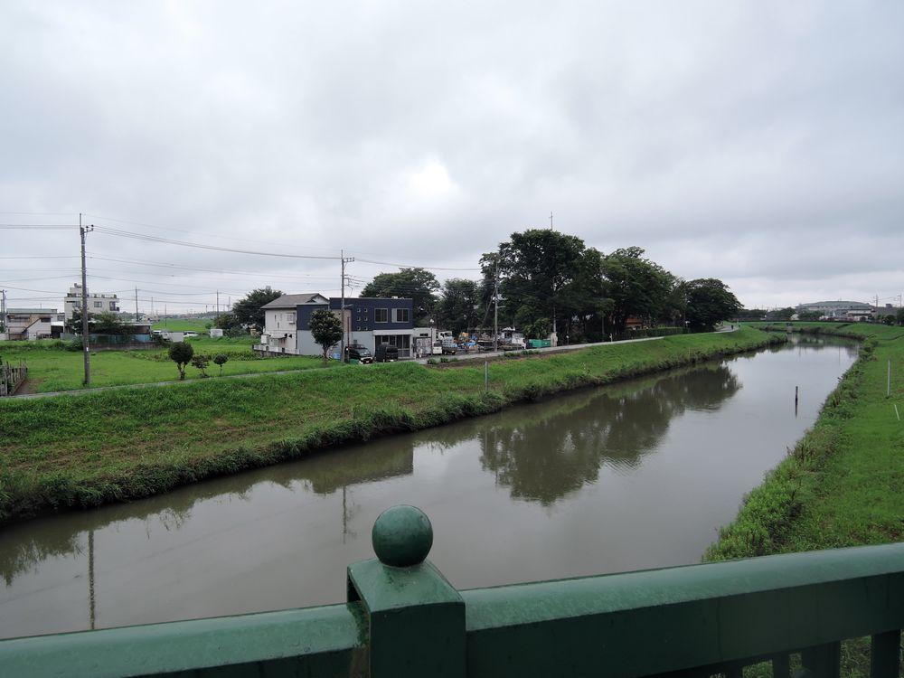 定使野橋 新方川下流の景色