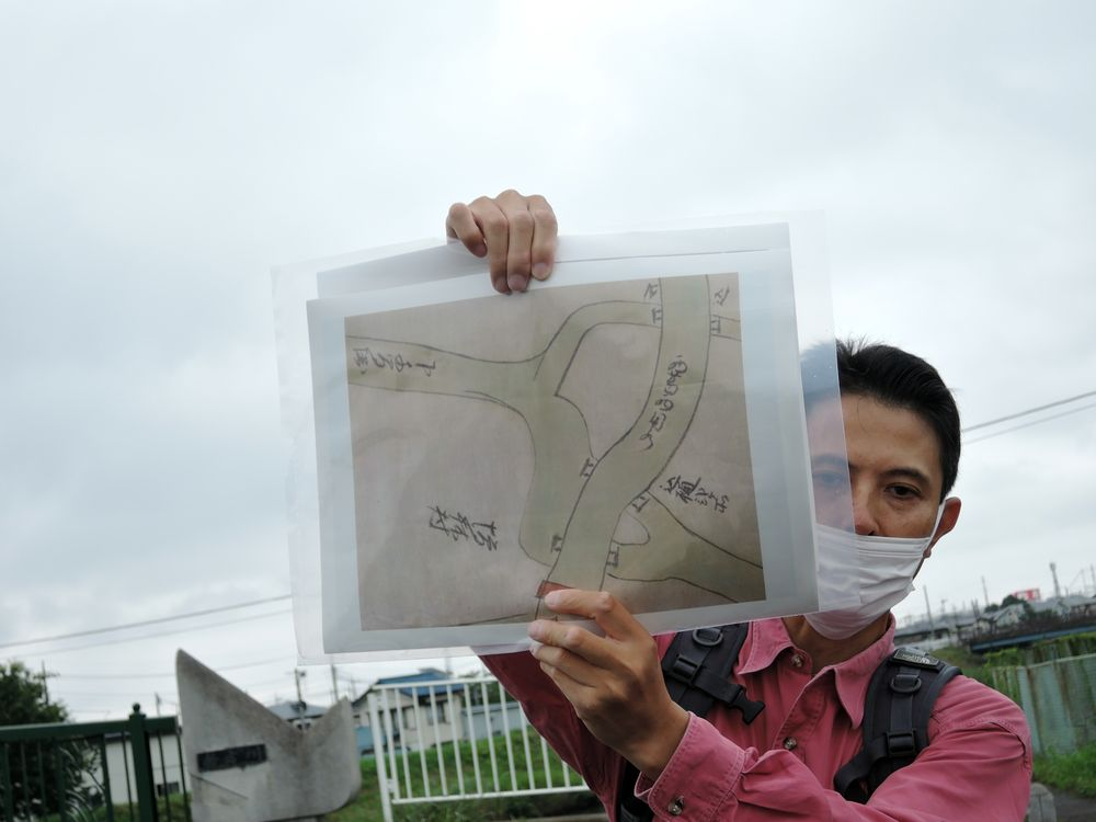 下千間堀流路跡の図