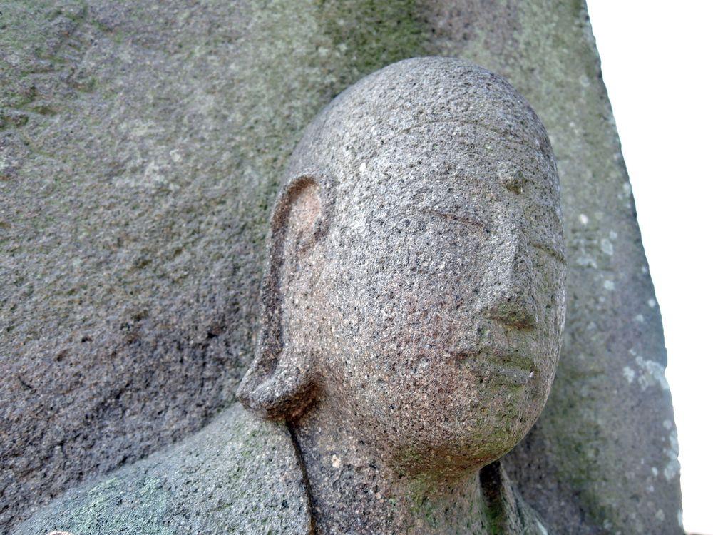 丸彫り地蔵菩薩|慈眼寺跡の共同墓地(越谷市小曽川)