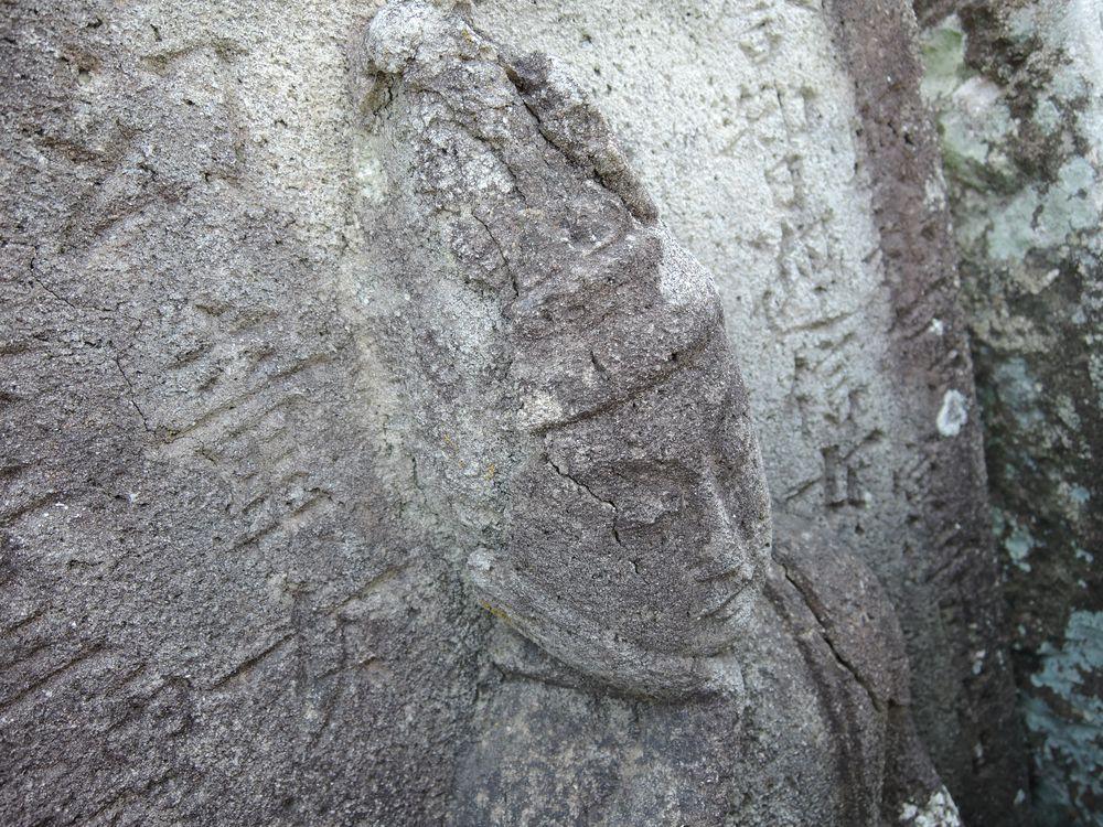 如意輪観音墓石|江戸中期