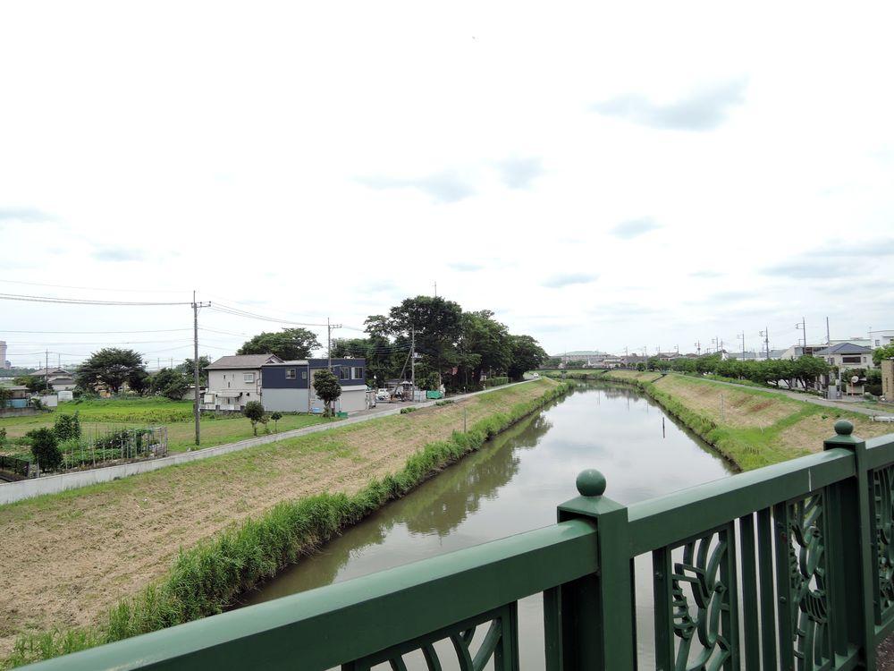 下千間堀|定使野橋から新方川下流の景色
