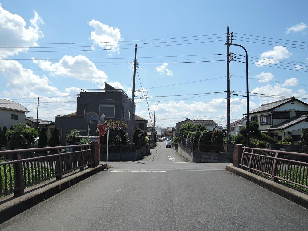 宮野橋から西(花田地区)を望む